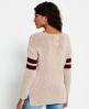 Superdry Pia Varsity Knit Jumper  Pink