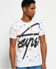 Superdry Crew Neck Splatter T-shirt White