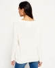 Superdry Arizona Lace Up Rib Knit Jumper Cream
