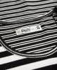 Superdry Essentials Mix Stripe Rib T-Shirt Schwarz