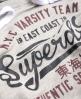 Superdry NY Varsity Team Crop Hoodie  Grey