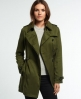 Superdry Winter Draped Trenchcoat Grün