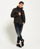 Superdry Fuji Tweed-Jacke mit dreifachem durchgehendem Reißverschluss  Grün
