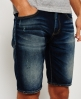 Superdry Officer Slim Denim Shorts Blue