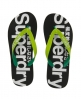Superdry Two Colour Flip Flops Black
