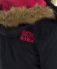 Superdry Hooded Fur Windbomber  Black