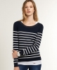 Superdry Luxe Breton Knit Navy