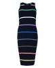 Superdry Core Midi Stripe Kleid  Schwarz