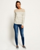 Superdry Analee Crew Jumper Grey