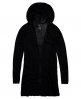 Superdry Rayon Hooded Fine Knit Cardigan Black