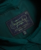 Superdry Chemise coupe boyfriend en satin Premium  Turquoise