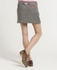 Superdry Country Rebel Mini Skirt Grey