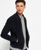 Superdry Slim Suede Bomber Jacket Navy