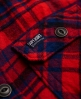 Superdry Milled Flannel Hemd  Rot