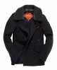 Superdry Merchant Pea Coat Grey
