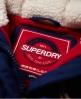 Superdry Melierte Steppjacke mit Knebelknöpfen Blau