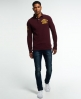 Superdry Super State Long Sleeve Polo Shirt Red