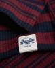 Superdry Essentials Mix Stripe Rib T-Shirt Marineblau