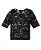 Superdry Lace T-Shirt Schwarz