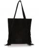 Superdry Premium Suede Neo Nomad Fringed Tote Bag Black