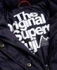 Superdry Cazadora con cremallera doble y capucha Fuji Slim Marino