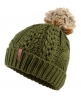 Superdry North Cable Bobble Hat Green