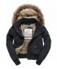 Superdry Study Duffle Jacket Black