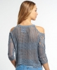 Superdry Feather Crochet Knit Top Grey