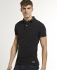 Superdry Vintage Destroyed Polo Black