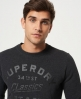 Superdry The Industry Over Dyed Crew Jumper Black
