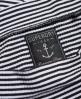 Superdry Geripptes Skaterkleid mit Bardot-Ausschnitt Weiß