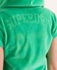 Superdry Ventura velvet Hoodie Green