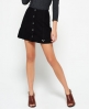 Superdry 70's Suede Skirt Black