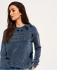 Superdry Distress Boxy Sweatshirt  Blue
