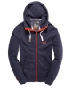 Superdry High Neck Zip Hoodie Navy