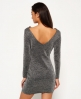 Superdry Metallic Vee Back Strickkleid Grau