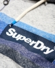 Superdry Sudadera con capucha, cremallera y mangas raglán Super 77 Surf Gris