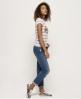Superdry T-shirt à rayures Vintage Logo  Blanc