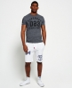 Superdry Trackster Lite Sweat Shorts White