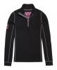 Superdry Merino Base Layer Half Zip Top Black
