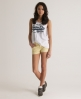 Superdry Tomboy Cord Shorts Yellow