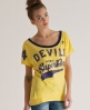 Superdry Burnout Football T-shirt Yellow