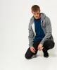 Superdry Trackster hættetrøje med lynlås Mørkegrå
