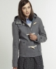 Superdry Cropped Duffle Coat Grey