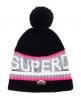 Superdry Bonnet avec logo Super S.D Bleu Marine
