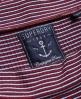 Superdry Geripptes Skaterkleid mit Bardot-Ausschnitt Rot