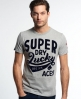 Superdry Lucky Aces T-shirt Grey