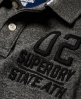 Superdry Classic Long Sleeve Expedition Polo Shirt  Dark Grey