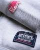 Superdry Sherpa Zip Hoodie Light Grey
