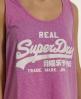 Superdry Vintage Low Arm Vest Pink